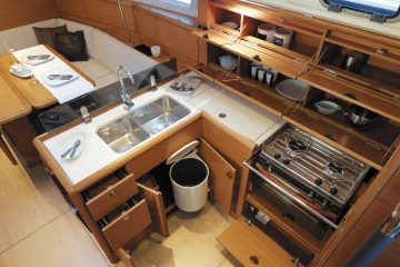 Jeanneau 38 ft. sloop interior view - galley