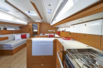 Jeanneau 41 ft. sloop interior view - galley
