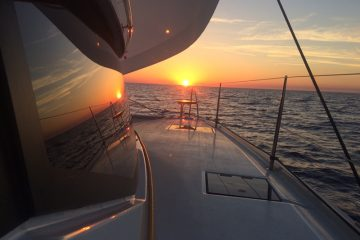 Lucky Cat - Fountaine Pajot Lucia 40' - sunset